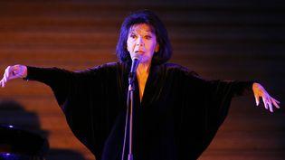Juliette Gréco en concert au Musée du Louvre en février 2016  (FRANCOIS GUILLOT / AFP)