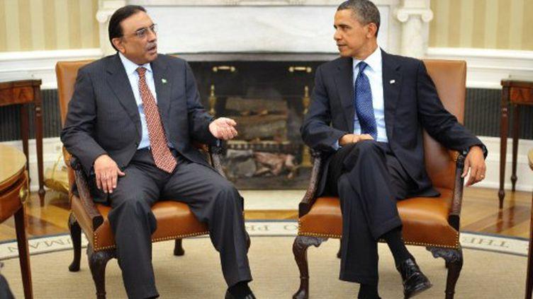 Le président pakistanais Asif Ali Zardari et le président américain Barack Obama, à la Maison Blanche. Janvier 2010. (AFP - Mandel NGAN)