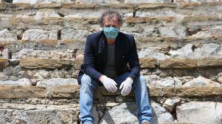 Le comédien Charles Berling en avril 2020. (BOUTRIA LUC / MAXPPP)