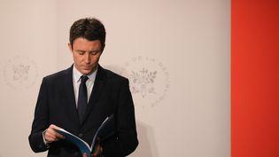 Le porte-parole du gouvernement, Benjamin Griveaux, le 30 janvier 2019 à Paris. (LUDOVIC MARIN / AFP)
