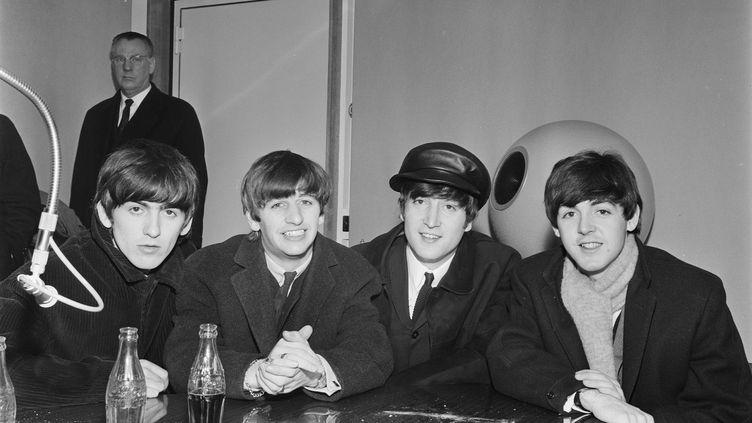 Les Beatles à Paris en 1963 (LOUIS JOYEUX / INA / AFP)