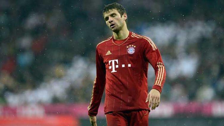 La déception du milieu Thomas Müller après la défaite de son équipe