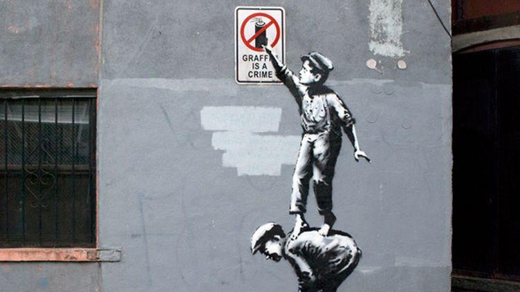 """""""The Street Is In Play"""", la première oeuvre du projet de Banksy à New York """"Better Out Than In"""", dévoilée le 1er octobre à Chinatown.  (Banksy.co.uk)"""