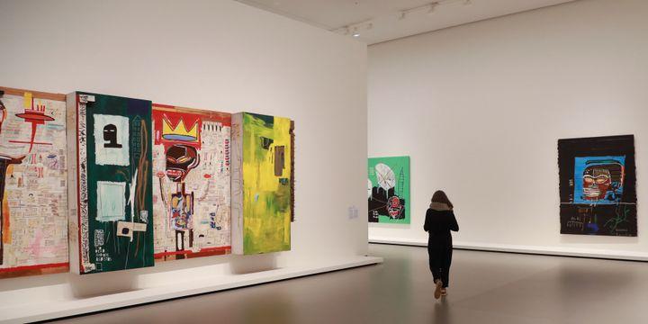 Expo Basquiat à la Fondation Louis Vuitton, septembre 2018  (JACQUES DEMARTHON / AFP)