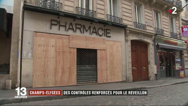 Champs-Elysées : des contrôles renforcés pour le réveillon