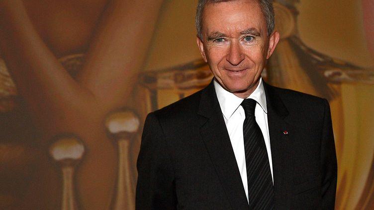 Bernard Arnault, le patron du groupe LVMH, au cours d'une réunion des actionnaires, le 14 mai 2009 à Paris. (MEIGNEUX/SIPA)