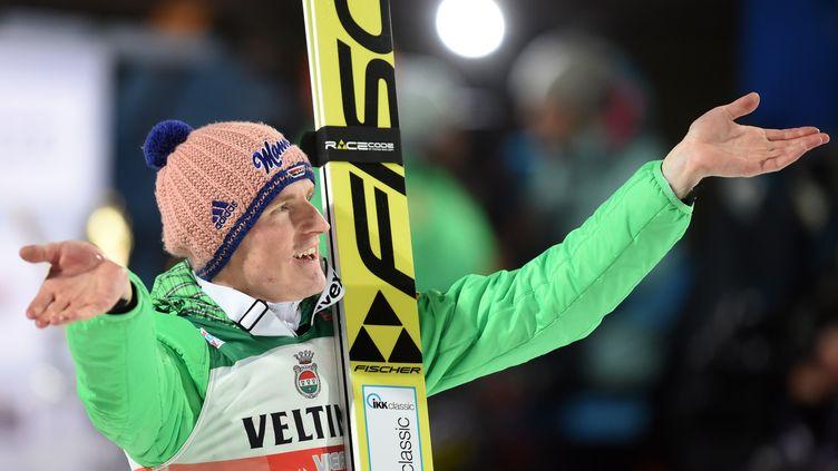 L'Allemand Severin Freund, vainqueur du concours d'Obertsdorf (Tournée des quatre tremplins) (CHRISTOF STACHE / AFP)