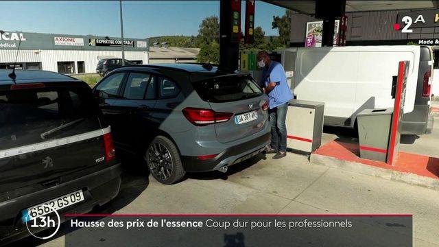 Hausse des prix de l'essence : certaines professions sonnent l'alarme