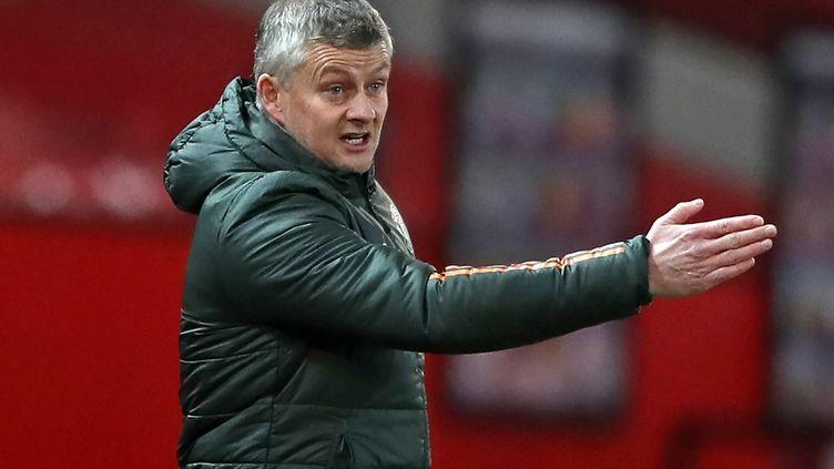 """L'entraîneur de Manchester United, Ole Gunnar Solskjær,""""ne voit pas l'intérêt de faire un break"""". (NICK POTTS / POOL)"""