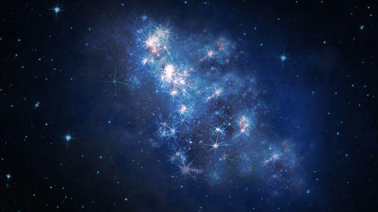 Vue d'artiste de la galaxiez8_GND_5296, la plus lointaine jamais observée, fournie par la Nasa le 23 octobre 2013. (NASA / REUTERS)