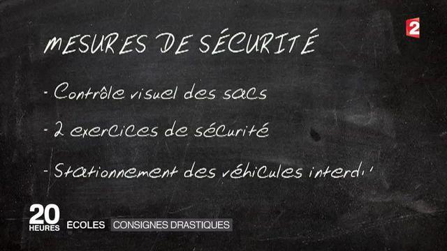 Écoles : des consignes drastiques instaurées suite aux attentats de Paris