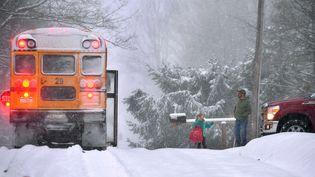 Chutes de neige déjà abondantes àFranklin en Pennsylvanie, le décembre 2017  (CHRISTOPHER MILLETTE / AP / SIPA)