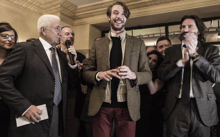 Oscar Coop-Phane lors de la remise du Prix de Flore 2012  (Alix William/SIPA)