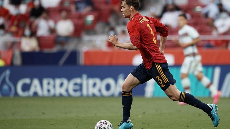 Diego Llorente (Leeds) avec la sélection espagnole contre le Portugal, vendredi 4 juin. (JOSE BRETON / NURPHOTO)