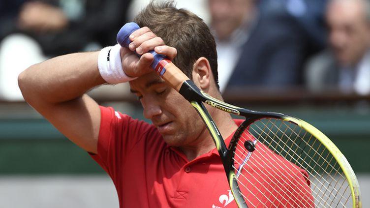 La blessure de Gasquet aux abdominaux laisse planer le doute quant à sa participation à l'US Open (PASCAL GUYOT / AFP)