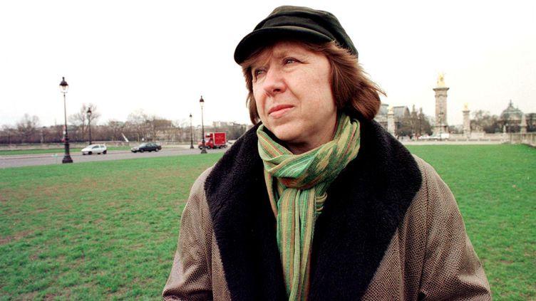 (Svetlana Alexievitch, à Paris en 2003 © SIPA/Sel Ahmet)