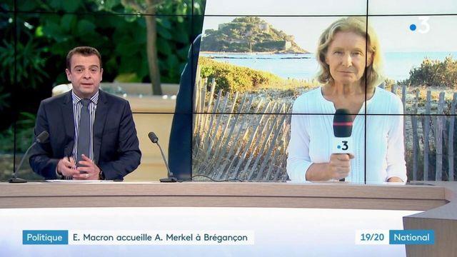 Fort de Brégançon : Emmanuel Macron et Angela Merkel sont sur la même longueur d'onde