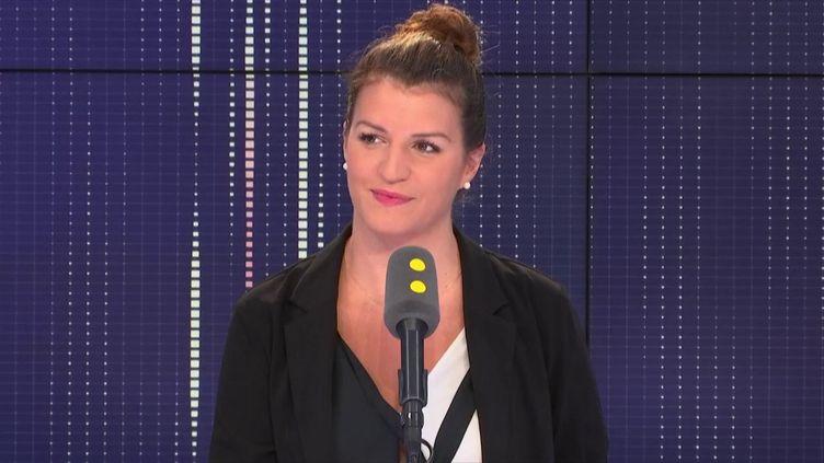 MarlèneSchiappa,secrétaire d'Etat chargée de l'Egalité entre les femmes et les hommes, invité de franceinfo le 25 juillet 2018. (FRANCEINFO / RADIOFRANCE)