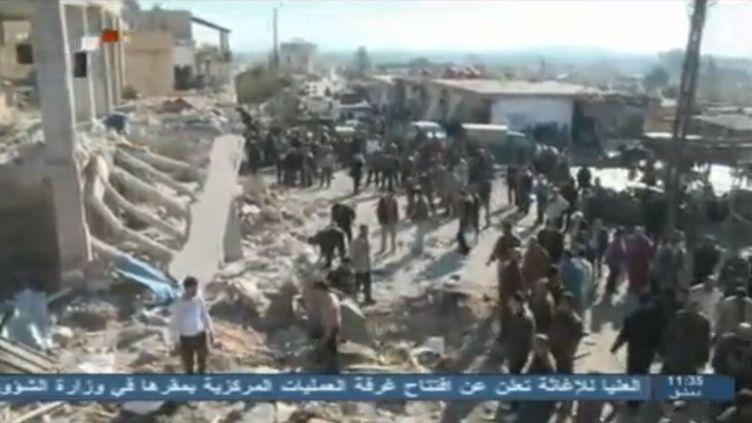 Un attentat à la voiture piégée a frappé Katana, une ville située au sud-ouest de Damas (Syrie), le 13 décembre 2012. (REUTERS / FRANCETV INFO)
