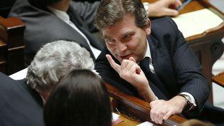 Le ministre du Redressement productif, Arnaud Montebourg, le 22 octobre 2013 à l'Assemblée nationale. (PATRICK KOVARIK / AFP)