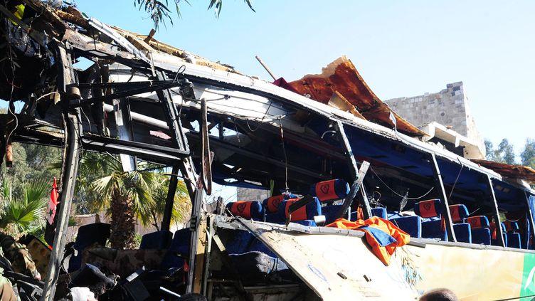 Un bus a explosé dimanche 1er février à Damas (Syrie), faisant au moins sept morts. (AFP / SANA)