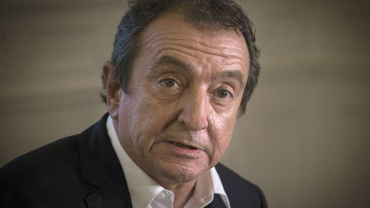 L'avocat de Bygmalion, Patrick Maisonneuve, donne une conférence de presse, à Paris, le 26 mai 2014. (JOEL SAGET / AFP)