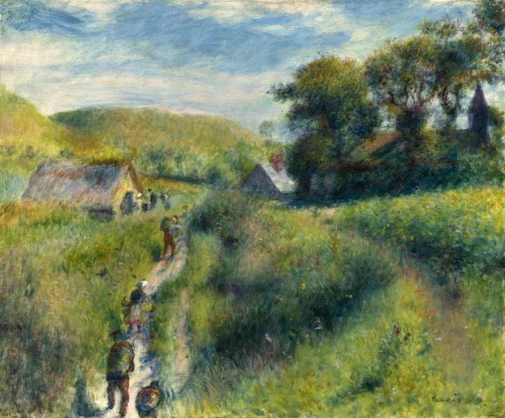 """Pierre-Auguste Renoir (1841-1919), """"La cueillette des moules à Berneval"""", 1879, Washington DC, National Gallery of Art. Gift of Margaret Seligman Lewisohn  (Courtesy National Gallery of Art, Washington)"""