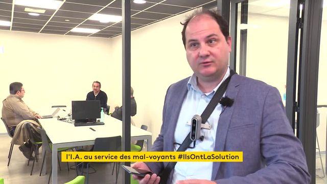 A Marseille, une entreprise invente un appareil pour aider les aveugles à se déplacer
