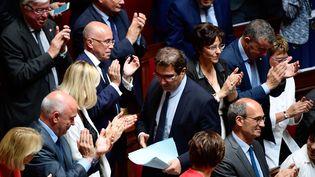 Une partie du groupe Les Républicains à l'Assemblée nationale, le 4 juillet 2017. (MARTIN BUREAU / AFP)