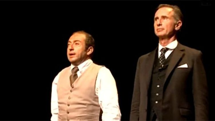 """Patrick Timsit et Thierry Lhermitte dans """"Inconnu à cette adresse"""".  (Culturebox)"""