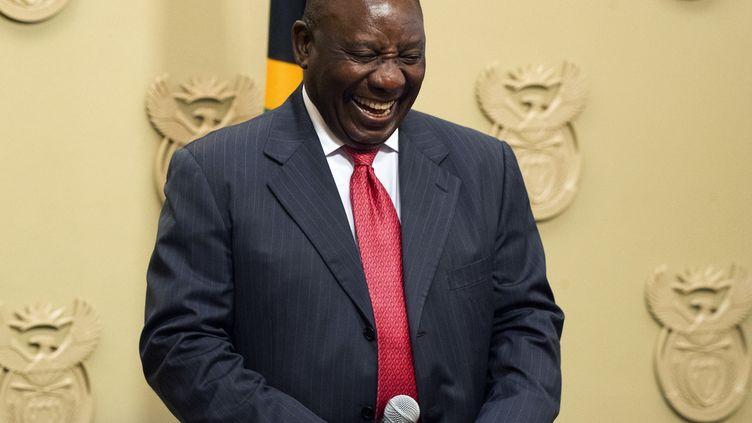 Le nouveau président d'Afrique du Sud, Cyril Ramaphosa. (RODGER BOSCH / POOL)