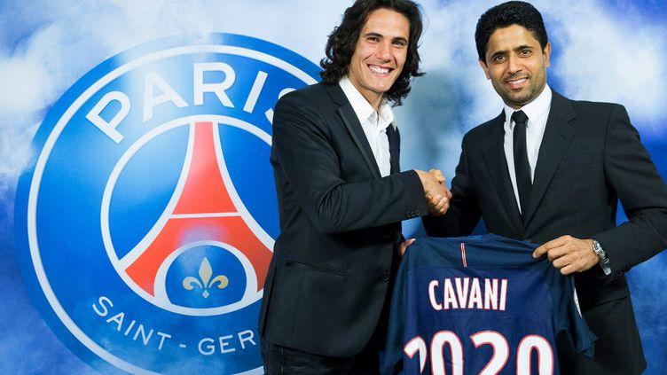 Edinson Cavani a prolongé son contrat avec le PSG jusqu'en 2020