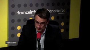 Florent Boudié, député LREM de la Gironde et responsable du texte Asile et immigration, le 13 juin 2018. (RADIO FRANCE / FRANCEINFO)