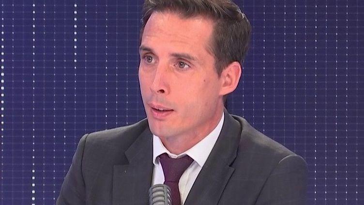 Jean-Baptiste Djebbari, ministre délégué chargé des transports, était l'invité de franceinfo le 14 septembre 2021. (FRANCEINFO / RADIOFRANCE)