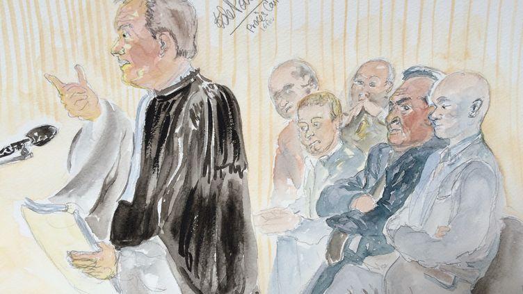 L'avocat de la société Eiffage, partie civile au procès du Carlton, le 16 février 2015 à Lille (Nord). (ELISABETH DE POURQUERY / FRANCETV INFO)