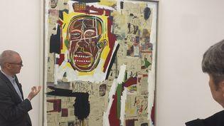 """""""Roi des Zoulous""""(1984-1985) deJean-Michel Basquiat à l'exposition """"Xerox"""" de la Nahmad Contemporary Gallery de New-York.  (THOMAS URBAIN / AFP)"""