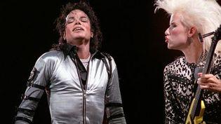 Michael Jackson au Parc des Princes, à Paris, le 27 juin 1988  (Patrick Kovarik / AFP)