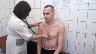 Photo du cinéaste Oleg Sentsov, fournie par les autorités pénitentiaires russes le 29 septembre 2018  (HO / Service pénitentiaire fédéral russe / AFP)