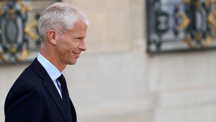 Franck Riester, le ministre de la Culture, à la sortie du conseil des ministres. (MAXPPP)