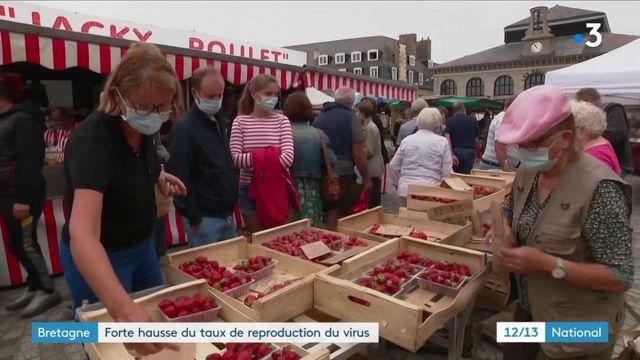 Bretagne : forte hausse du taux de reproduction du virus