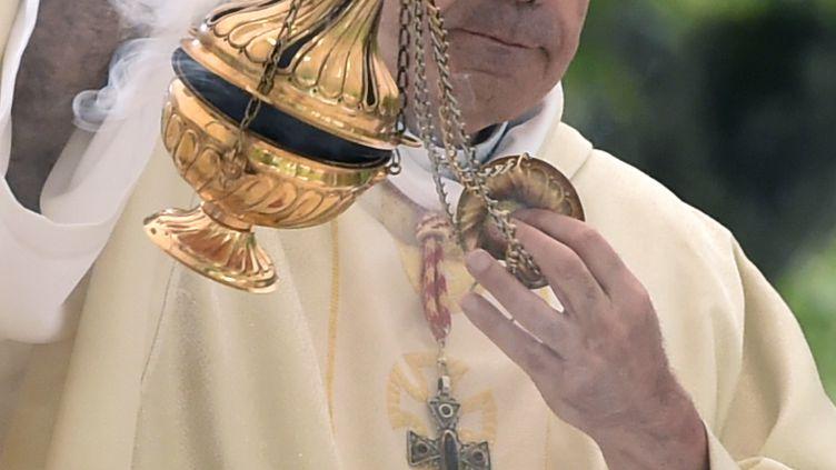 Philippe Barbarin le 15 août 2016 à Lourdes. (PASCAL PAVANI / AFP)