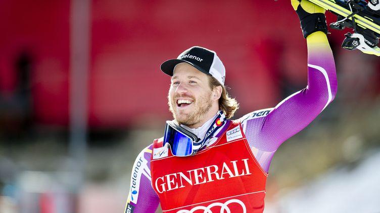 Deuxième globe pour Kjetil Jansrud cette saison! (STR / SCANPIX NORWAY)