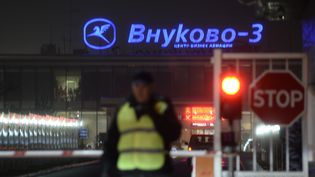 Un terminal de l'aéroport de Vnoukovo, à Moscou (Russie), le 21 octobre 2014 au matin. (MAKSIM BLINOV / RIA NOVOSTI / AFP)