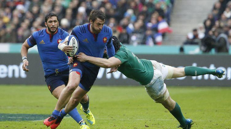 Le Français Maxime Medard a marqué le seul essai de cette rencontre. (THOMAS SAMSON / AFP)