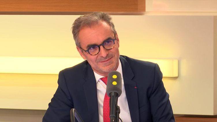 Arnaud Marion, président exécutif du consortium Smovengo, lundi 3 septembre 2018. (RADIO FRANCE / FRANCEINFO)