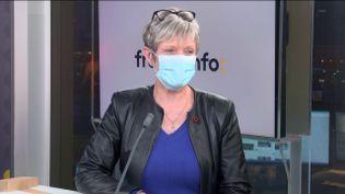 Christine Fumagalli, présidente du réseau d'agences Orpi, invité éco de franceinfo vendredi 22 janvier 2021. (FRANCEINFO / RADIO FRANCE)