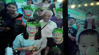 Un logiciel de reconnaissance faciale, en Chine (illustration). (LIU TAO / MAXPPP)
