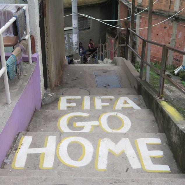 (Dans cette favela de Rio, le message des oubliés du Mondial © Radio France / Nicolas Mathias)