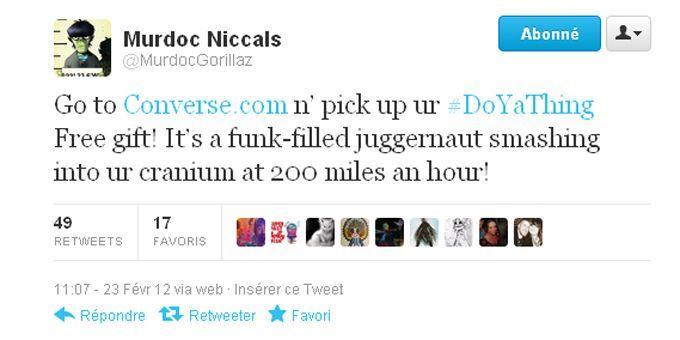 """Le tweet de Murdoc des Gorillaz dévoilant """"Do Ya Thing"""".  (Gorillaz)"""