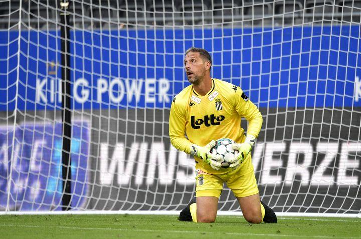Nicolas Penneteau s'est engagé au Stade de Reims jusqu'en 2023. (JOHN THYS / AFP)